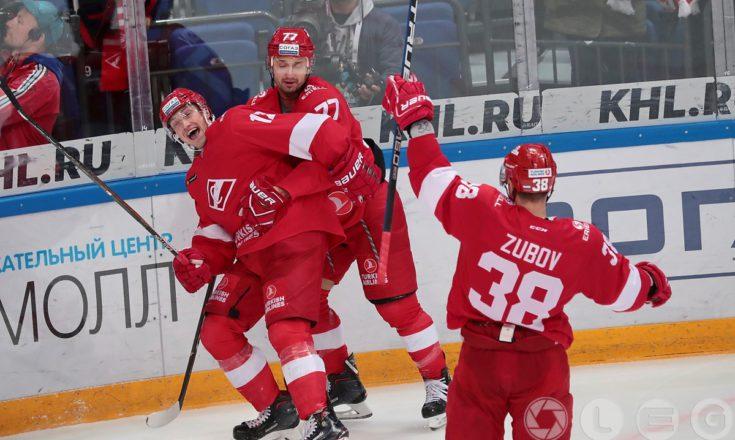 КХЛ. «Спартак» выиграл у «Слована» в первом матче под руководством Алексея Жамнова