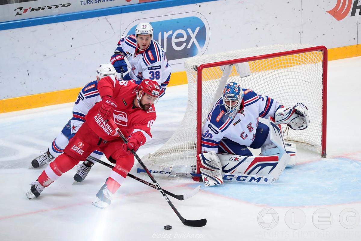 КХЛ: Безоговорочная победа СКА над «Спартаком» в дерби двух столиц