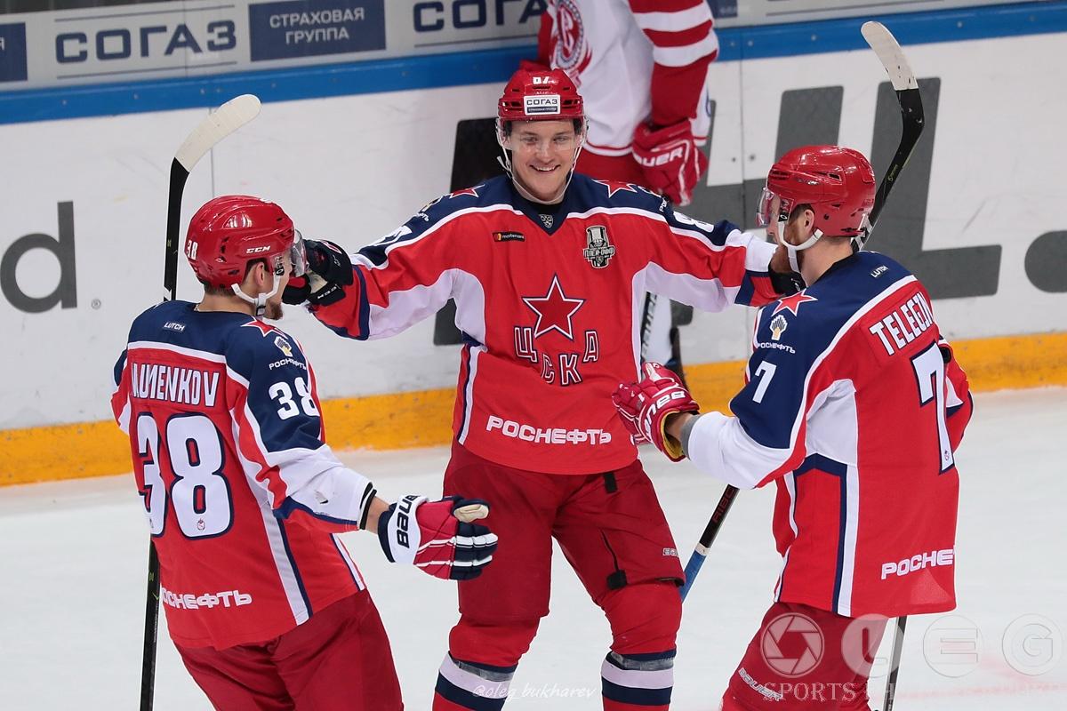 КХЛ. Армейцы стартовали в плей-офф с уверенной победы