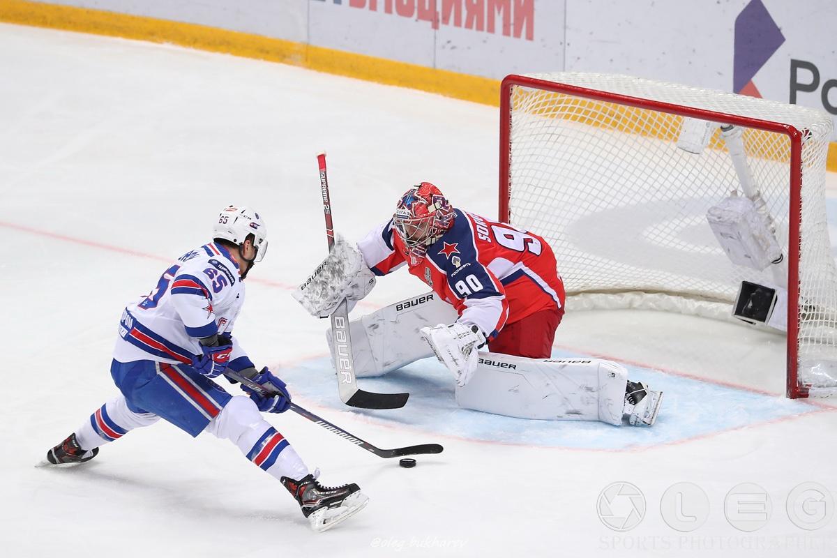 КХЛ. ЦСКА обыграл СКА в первом матче серии финала Конференции Запад.