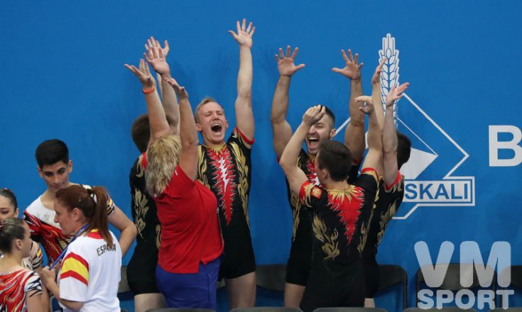 Россия побеждает в спортивной аэробике на Европейских играх