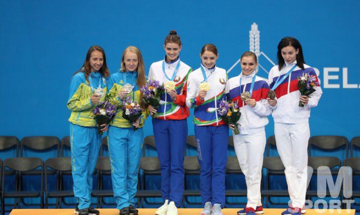 Белоруссия, Украина и Россия вместе на пьедестале почёта