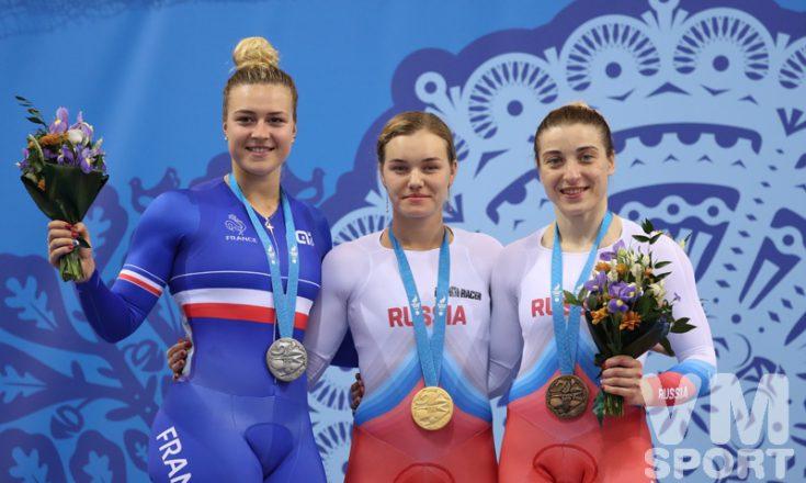 """Два """"золота"""" и три """"бронзы"""" добыли россияне на велотреке в Минске"""