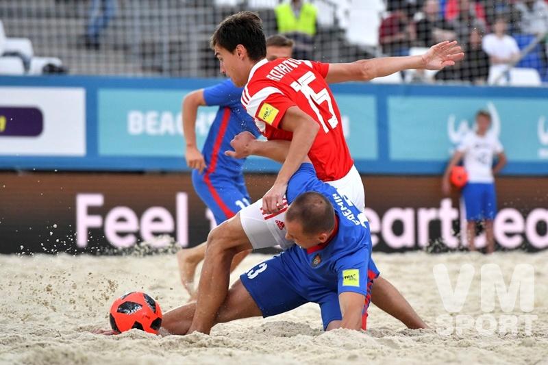 Сборная России по пляжному футболу вышла во второй групповой этап                                                                     отборочного тура ЧМ