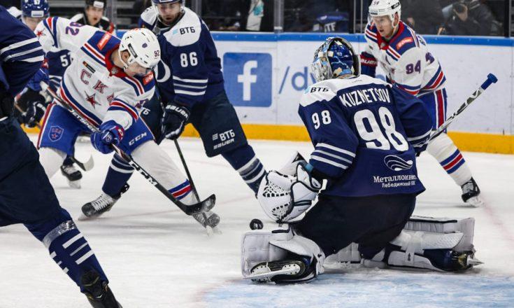 «СКА» уверенно разбирается с «Динамо» в Москве