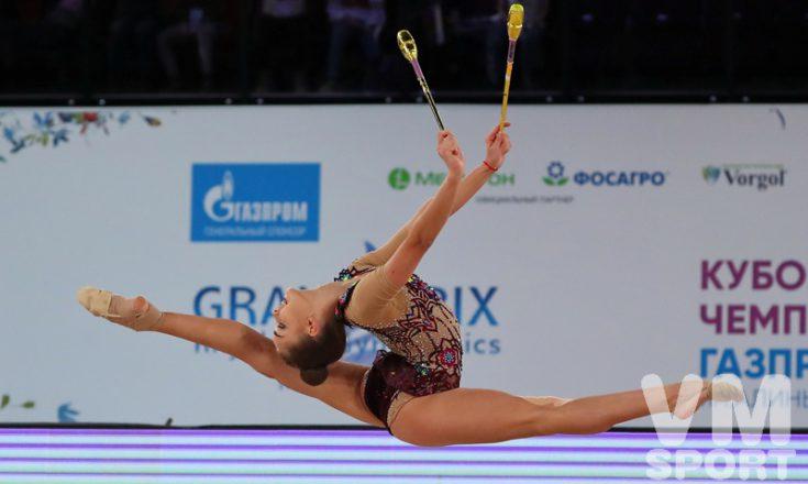 Дина Аверина - победительница этапа Гран-при в Москве в личном многоборье