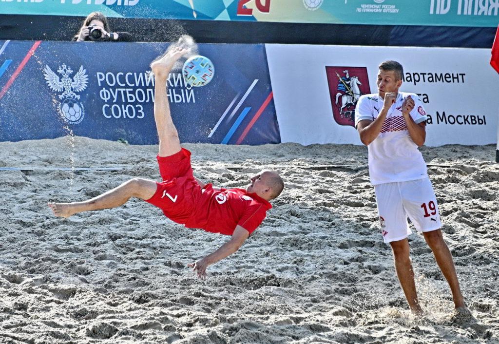 Второй этап Чемпионата России по пляжному футболу пройдёт в Москве