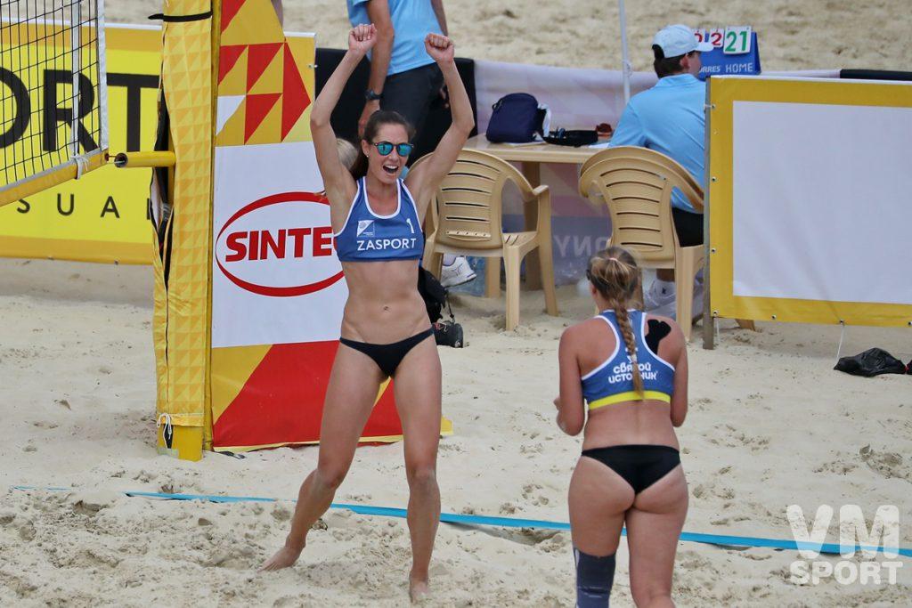 Победные эмоции пляжного волейбола