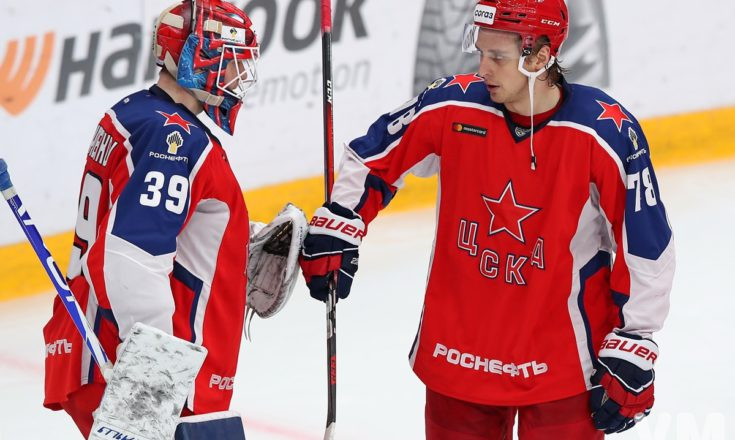 Третья тройка ЦСКА выигрывает у «Северстали»