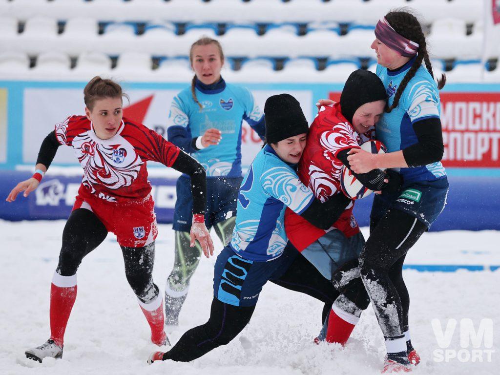 Рождественский турнир по регби на снегу