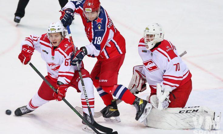 ХК Красная Армия-МХК Спартак