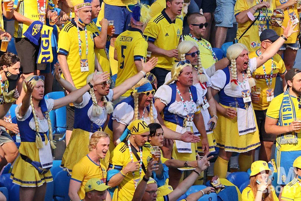 Футбол. ЕВРО-2020. Сборная Швеции. Болельщики