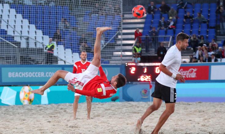 Пляжный футбол. Сборная России-Сборная Германии