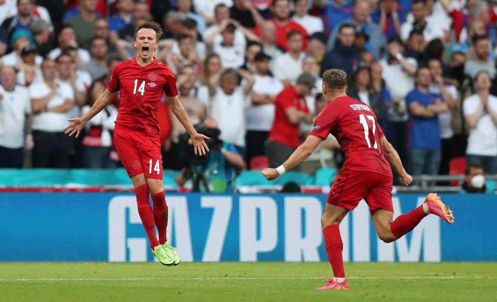 Миккель Дамсгор. Футбол. ЕВРО-2020. Сборная Англии-Сборная Дании
