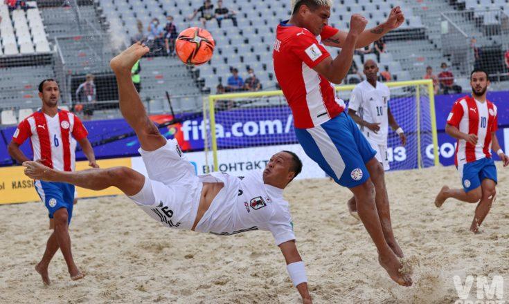 Пляжный футбол. Чемпионат мира. Сборная Парагвая-Сборная Японии