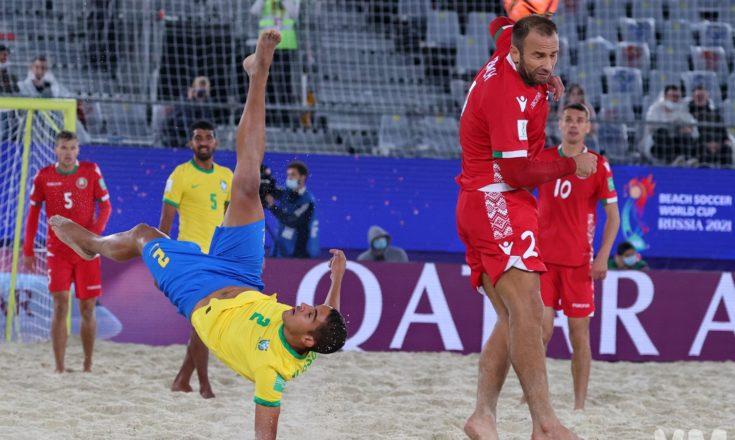 Пляжный футбол. Чемпионат мира. Сборная Белоруссии-Сборная Бразилии