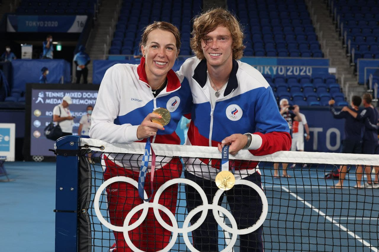 Олимпиада. Теннис. Анастасия Павлюченкова и Андрей Рублёв