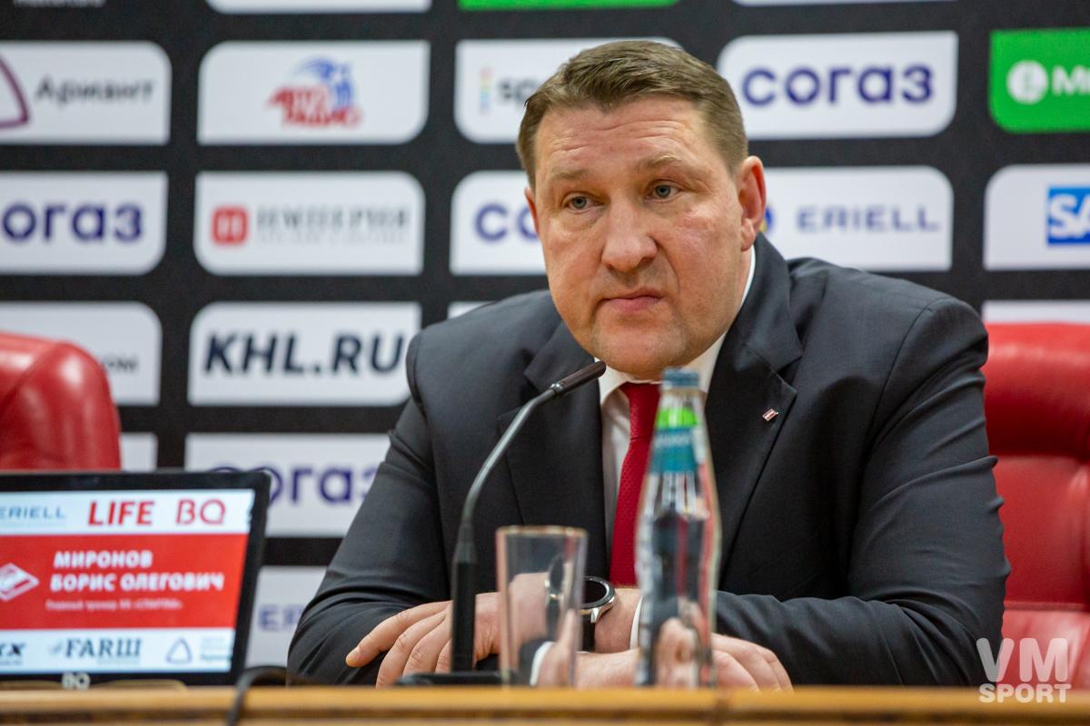 Борис Миронов. ХК Спартак